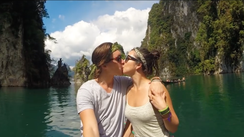 Brandon Lerry y su novia documentaron su viaje.