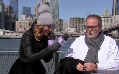 Lili retó a Raúl a que se quitara la camisa en la congelada ciudad de Ne...
