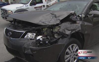 Ladrón perseguido por la policía ocasiona accidente en Hialeah
