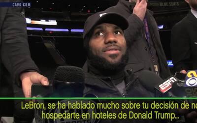 LeBron James prefiere no hospedarse en hoteles de Donald Trump
