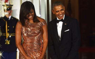Así lució Michelle Obama en su última cena de Estad...