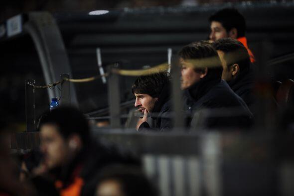 Lionel Messi estuvo en el estadio, pero viendo el juego desde las gradas.
