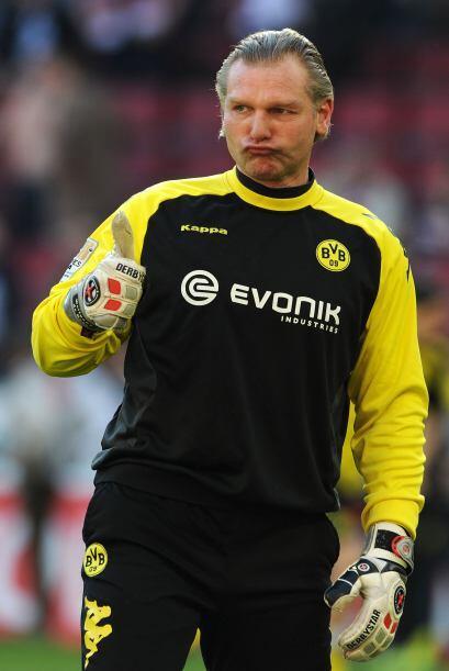 Aunque al portero del Dortmund, Wolfgang 'Teddy' de Beer sí le gustó.
