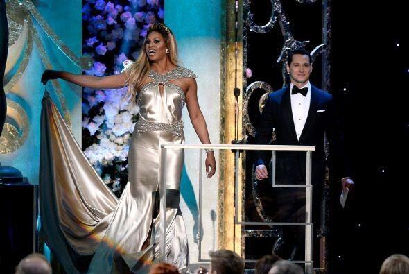 Laverne Cox y Matt McGorry, de 'Orange is the New Black'.