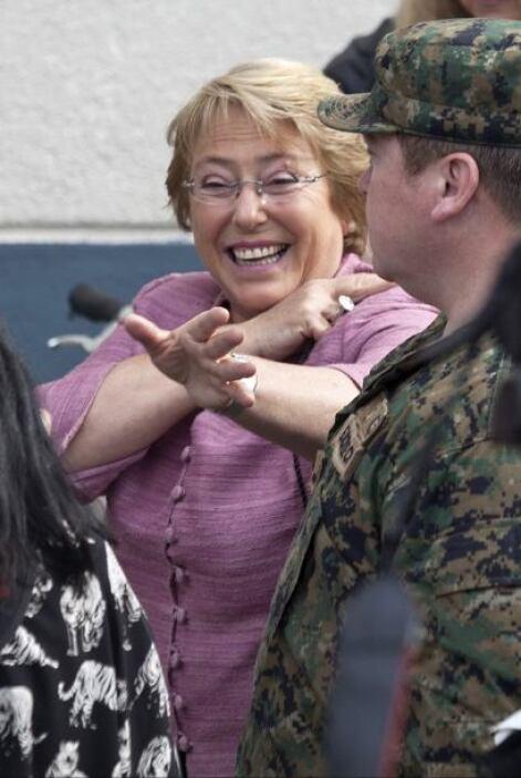 La exmandataria chilena y actual candidata presidencial del opositor pac...