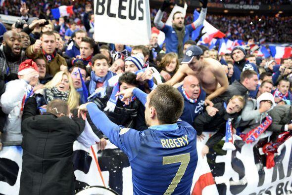 Ribery también calificó con la escuadra francesa al siguie...