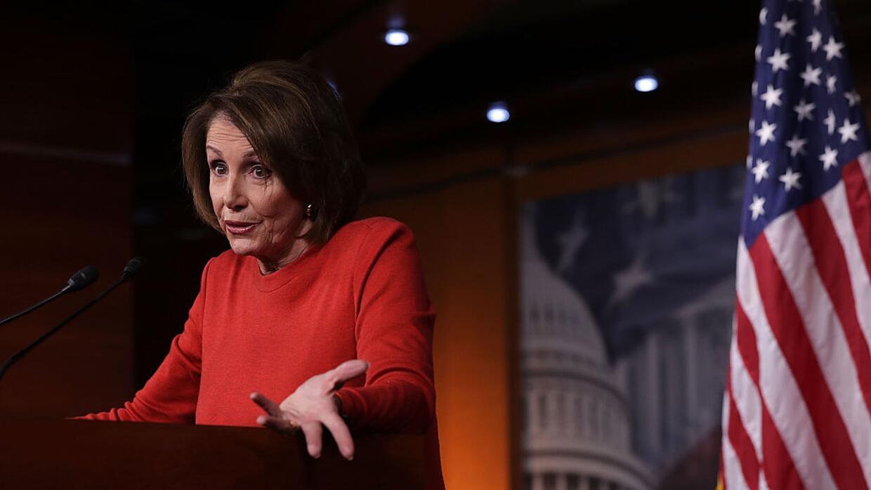 Nancy Pelosi, líder de la minoría demócrata en la Cámara de Representantes