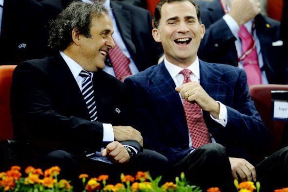 Michel Platini disfrutó de la final junto al Príncipe Felipe.