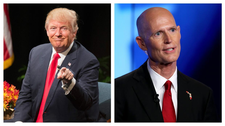 Donald Trump y Rick Scott