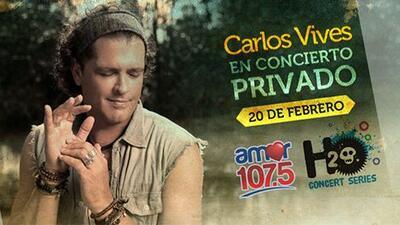 107.5 Amor te lleva al concierto privado de Carlos Vives el próximo 20 d...