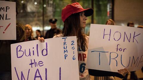 Seguidora de Trump en Nueva York (archivo)