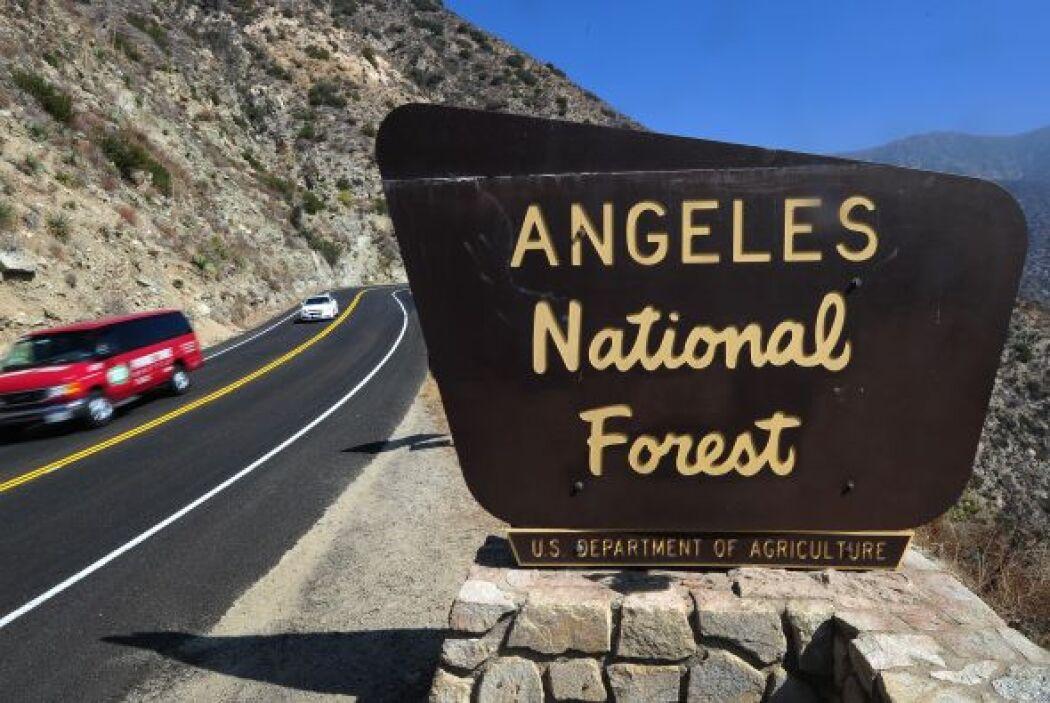 El 'Angeles National Forest' te brinda su exuberante paisaje y reservas...