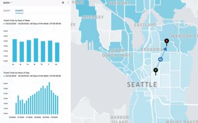 Una captura de pantalla de la nueva herramienta de Uber para las ciudades.