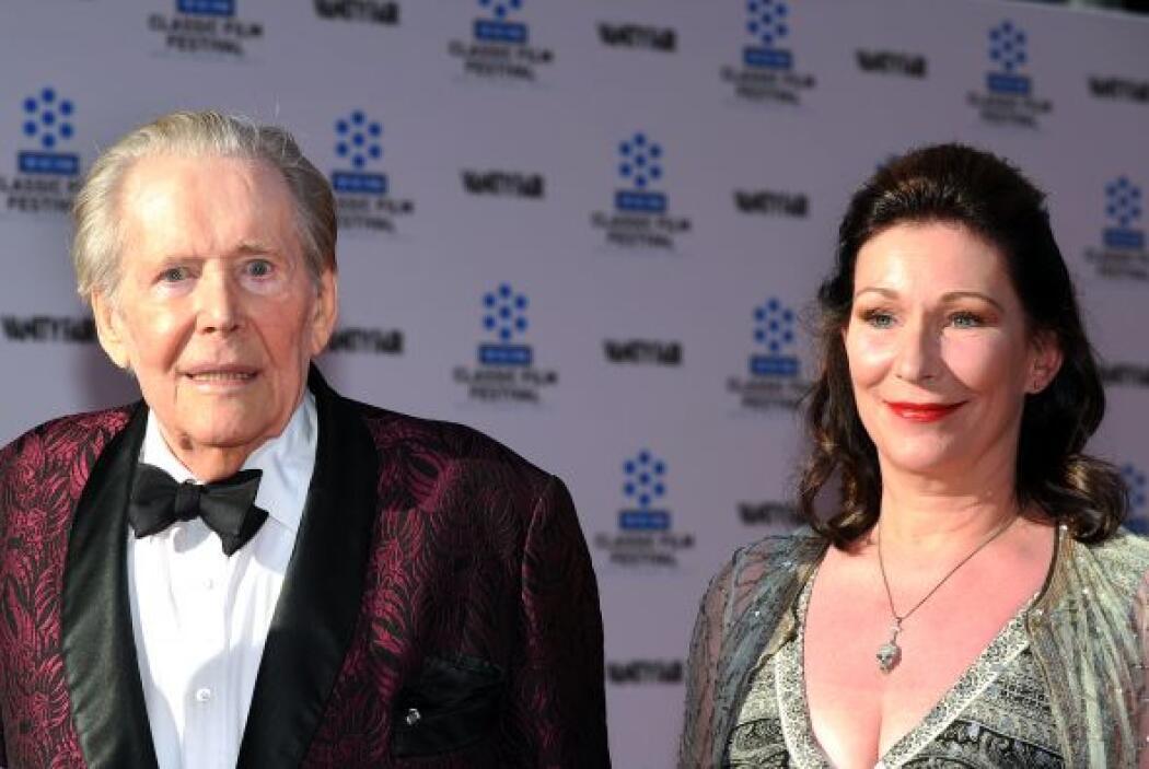 Peter, junto a su hija Kate, quien agradeció muestras de cariño y afecto...