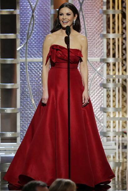 Catherine Zeta-Jones en el escenario.