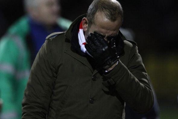 Las lágrimas las puso la puso Antonio Di Canio entrenador del Swi...