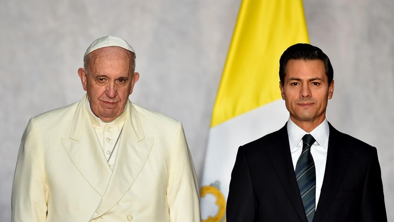 El Papa se reunió con Peña Nieto en el Palacio Nacional.