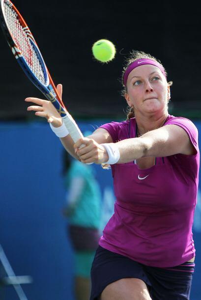Petra Kvitova cumplió con el compromiso y eliminó a Nady Minella.