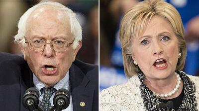 Bernie Sanders y Hillary Clinton.