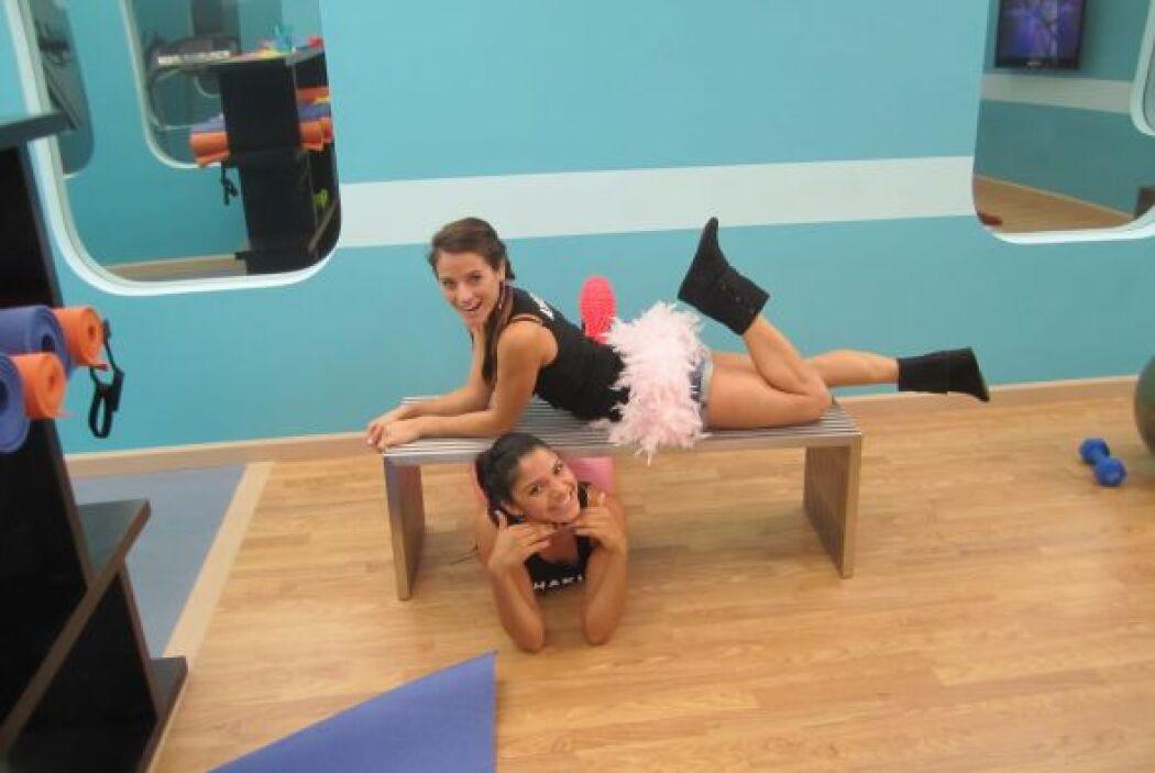 La bailarina de la competencia ejecita su cuerpo todos los días.