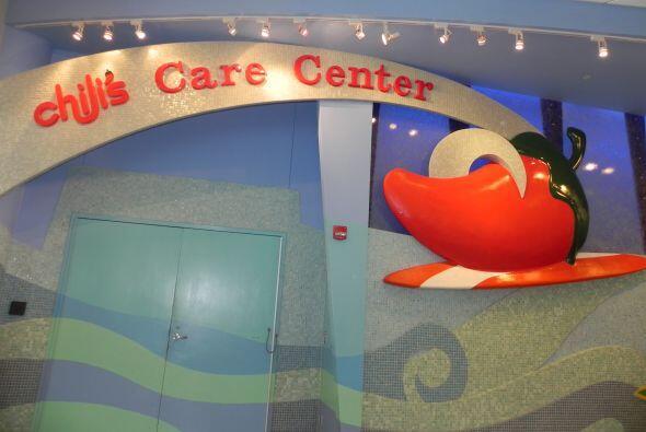 El salón de Cuidados fue creado por Chili, en forma de barco para alegra...
