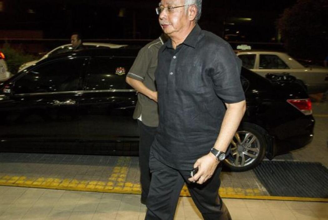 El primer ministro de Malasia Najib Razak llega al Centro de Operaciones...