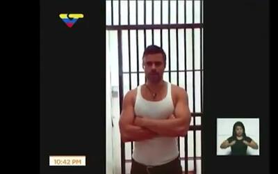 El gobierno venezolano emite una prueba de vida de Leopoldo López en med...