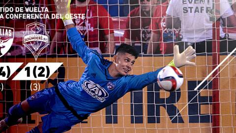 El arquero Jesse González, uno de los héroes de FC Dallas.