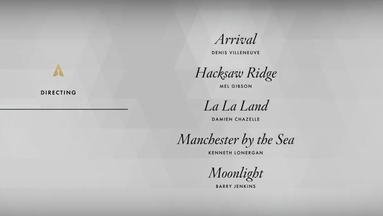 Mejor director Nominados al Oscar