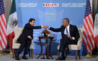 Los presidentes Enrique Peña Nieto y Barack Obama