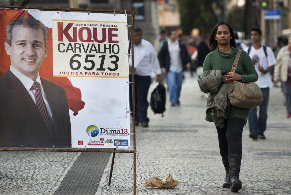 Es común ver la propaganda electoral por las calles brasileñas.