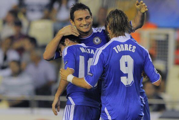 Los 'Blues' se adelantaron gracias a un tanto de Frank Lampard.