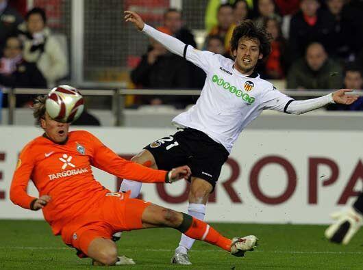 El Valencia de España recibió al Werder Bremen alemán.