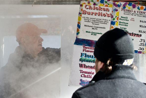 El miércoles en Nueva York se registraron temperaturas entre los -12 y l...