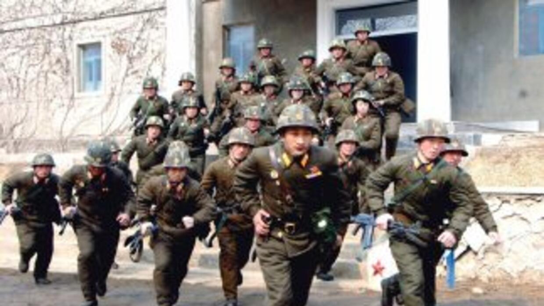 En el video aparecen soldados norcoreanos que invaden Seúl y toman como...