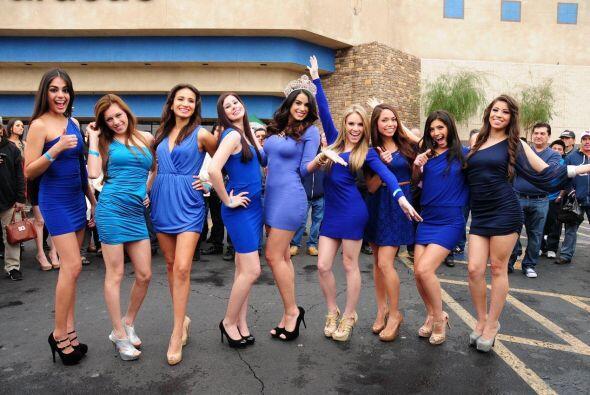 Las de azul nos regalaron su mejor pose.
