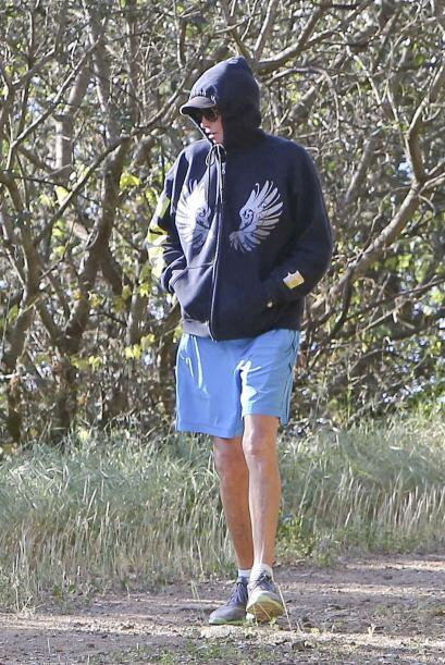 Hace unos dias las cámaras lo encontraron ejercitando en Malibú.