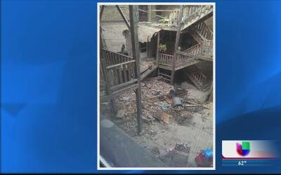Rayo destruye edificio en Evanston