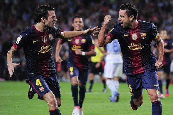 La victoria, que se abrió con el gol de Xavi, deja al Barcelona de líder...