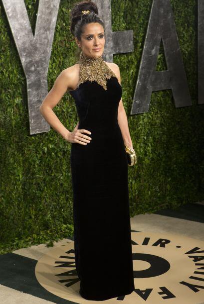 Salma Hayek: Es una actriz mexicana de teatro, cine y televisión...