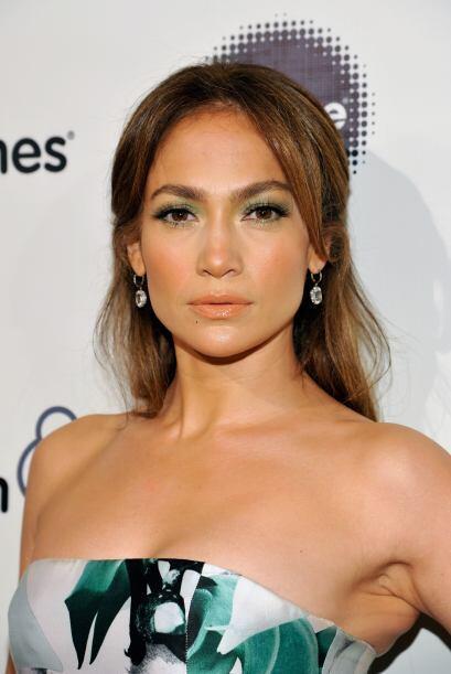 ¡Quien presumió un adorable 'make up' fue Jennifer López!  Unas atrevida...
