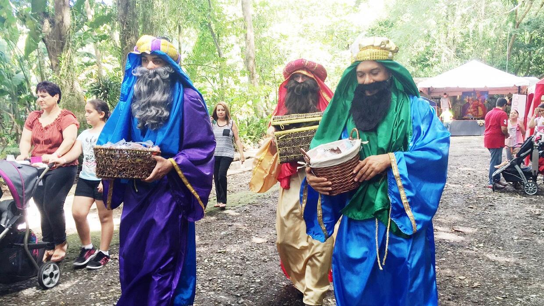 Tres Reyes Magos en el Bosque San Patricio