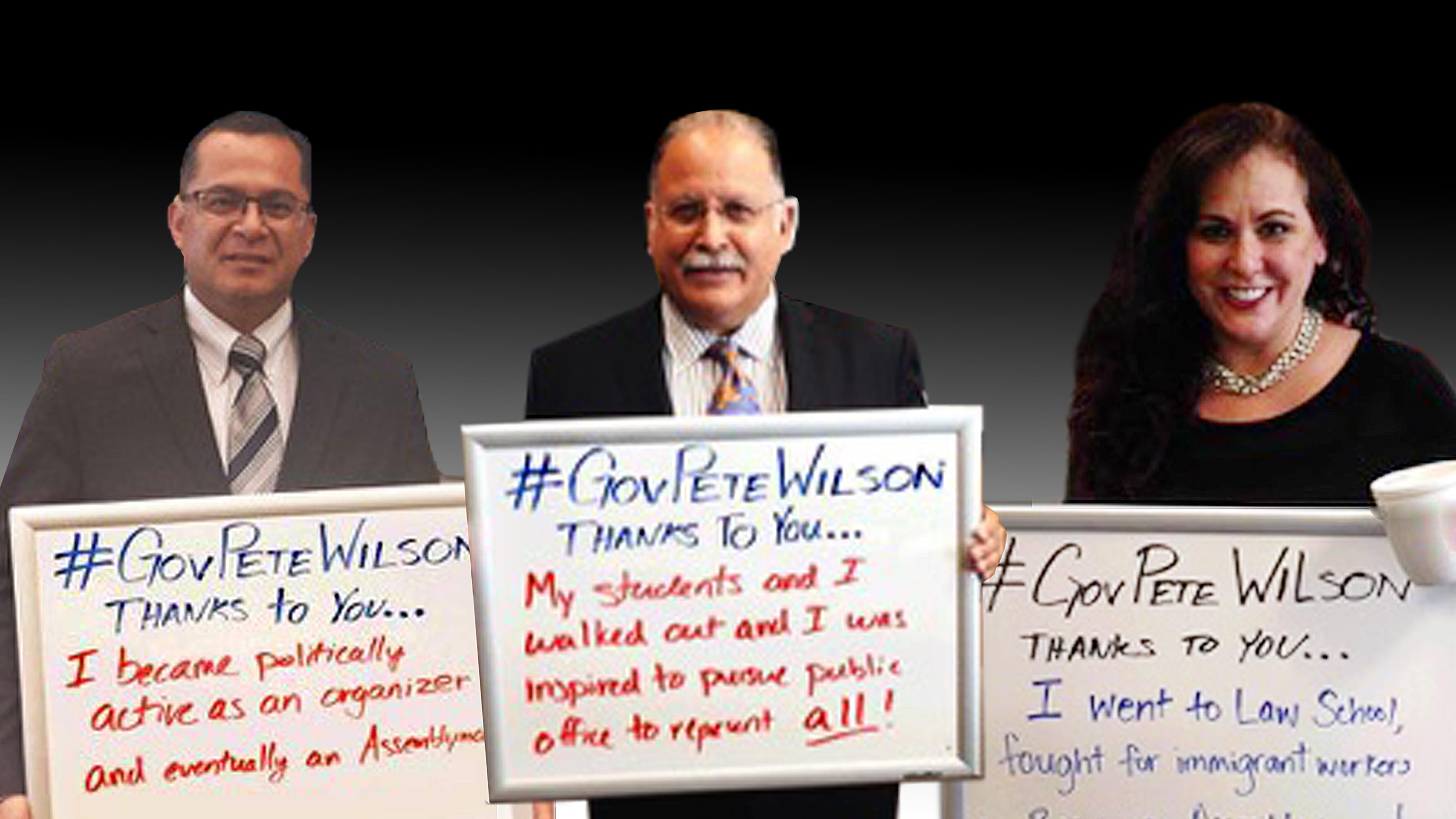 Hace dos años varios legisladores hispanos agradecieron a Pete Wilson su...