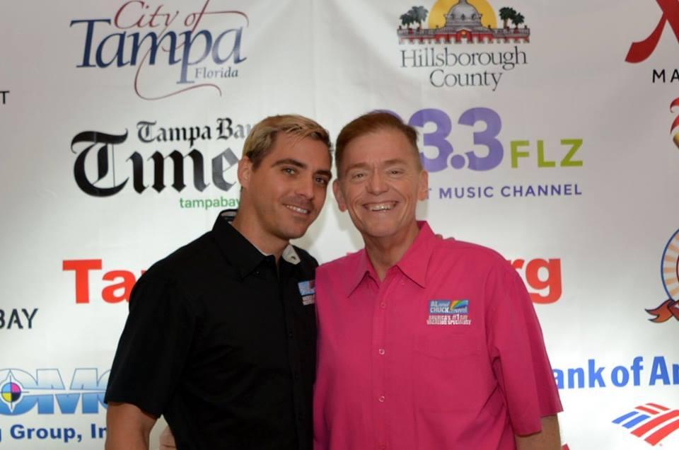 Eddie Sotomayor (I) y su jefe Al Ferguson, en un evento el pasado marzo...