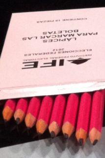 Lápices que entrego el IFE para marcar las boletas electorales. (Imagen...