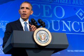 El presidente Barack Obama pronuncia un discurso en un foro organizado p...