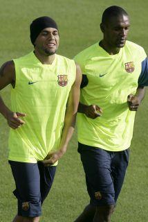 Una gran amistad existe entre estos dos futbolistas.