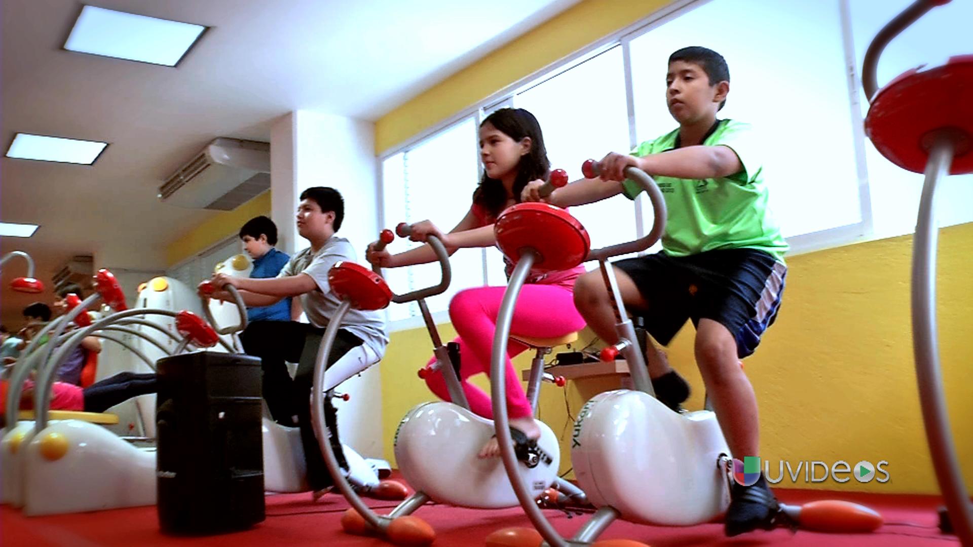 Un gimnasio para ni os le da pelea a la obesidad infantil for Para gimnasio