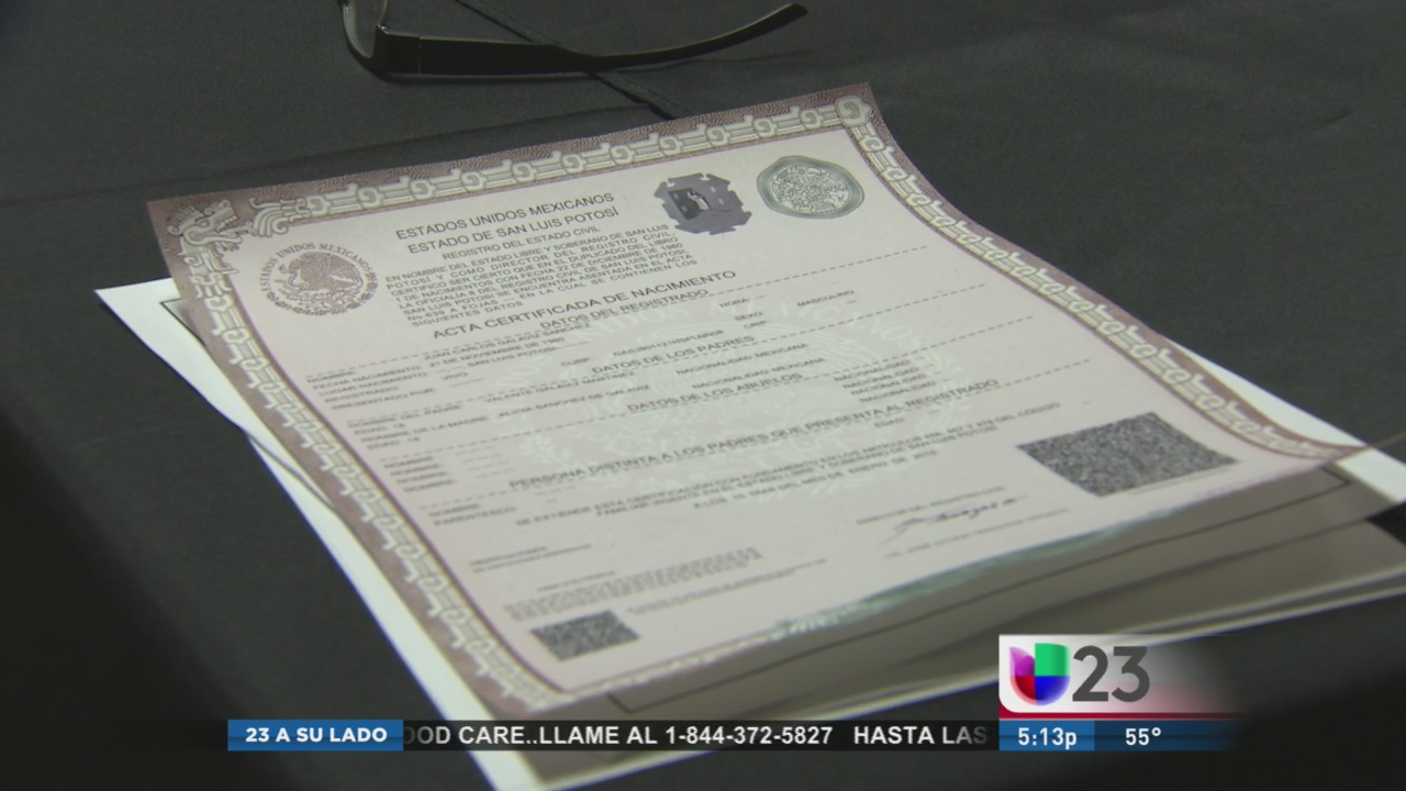 Ya puede obtener una copia de su acta de nacimiento mexicana en ...