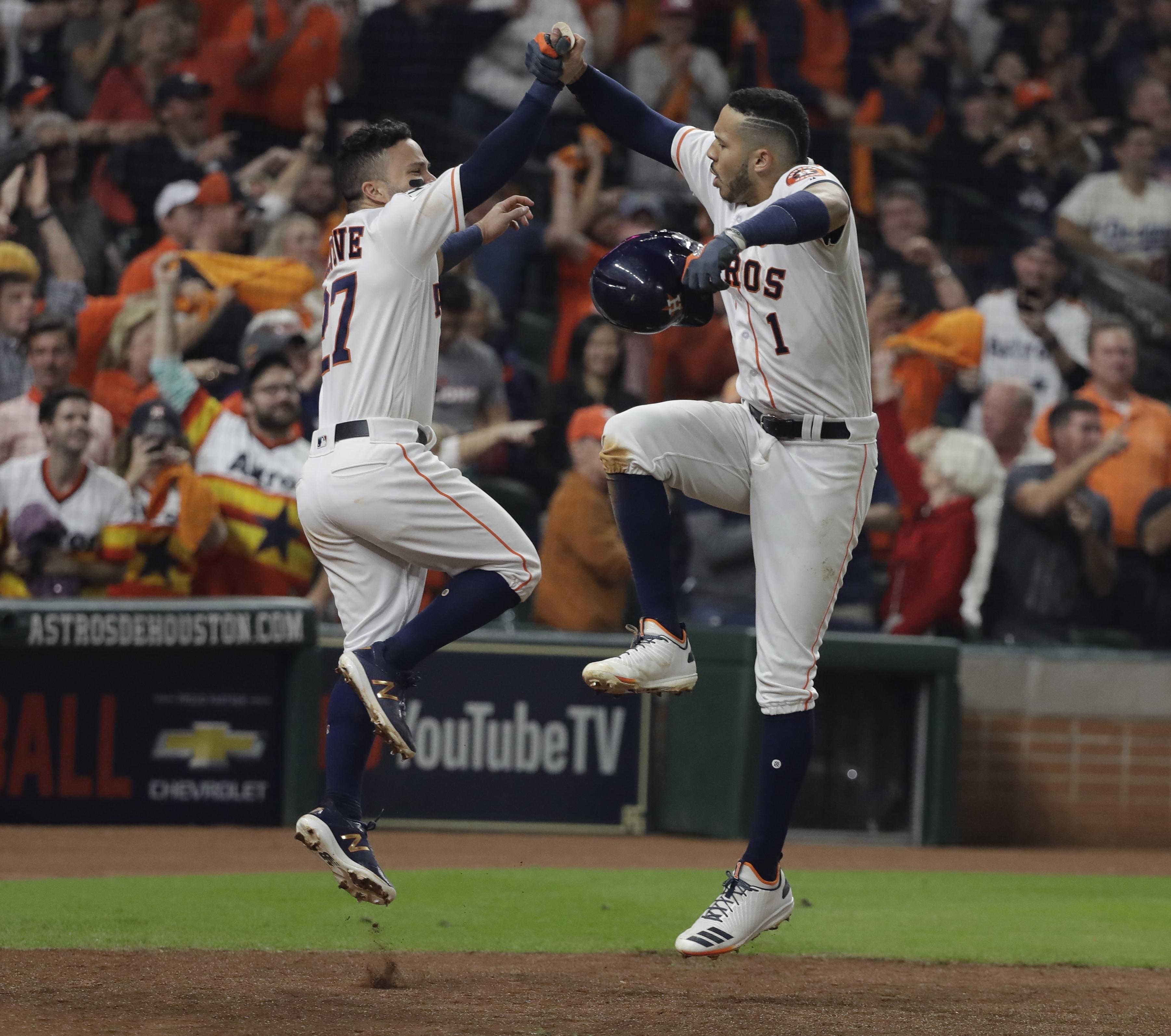 Los Astros De Houston Se Ponen A Un Juego Del Campeonato Al Ganarle A Los Dodgers